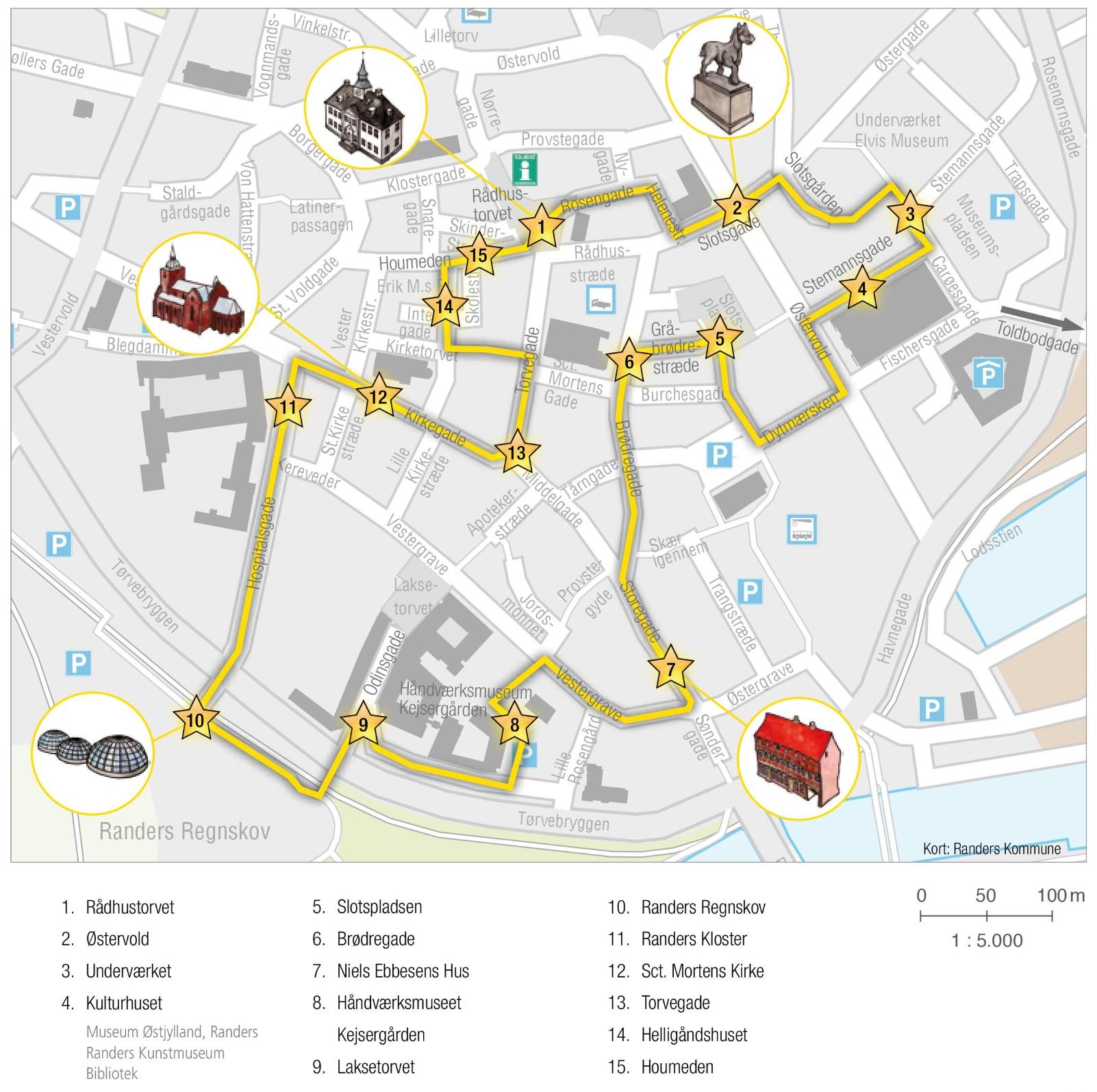 Randers tourist map