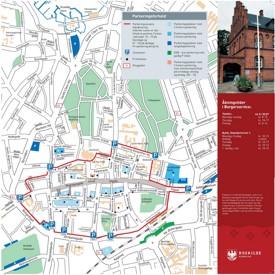 Roskilde city center map