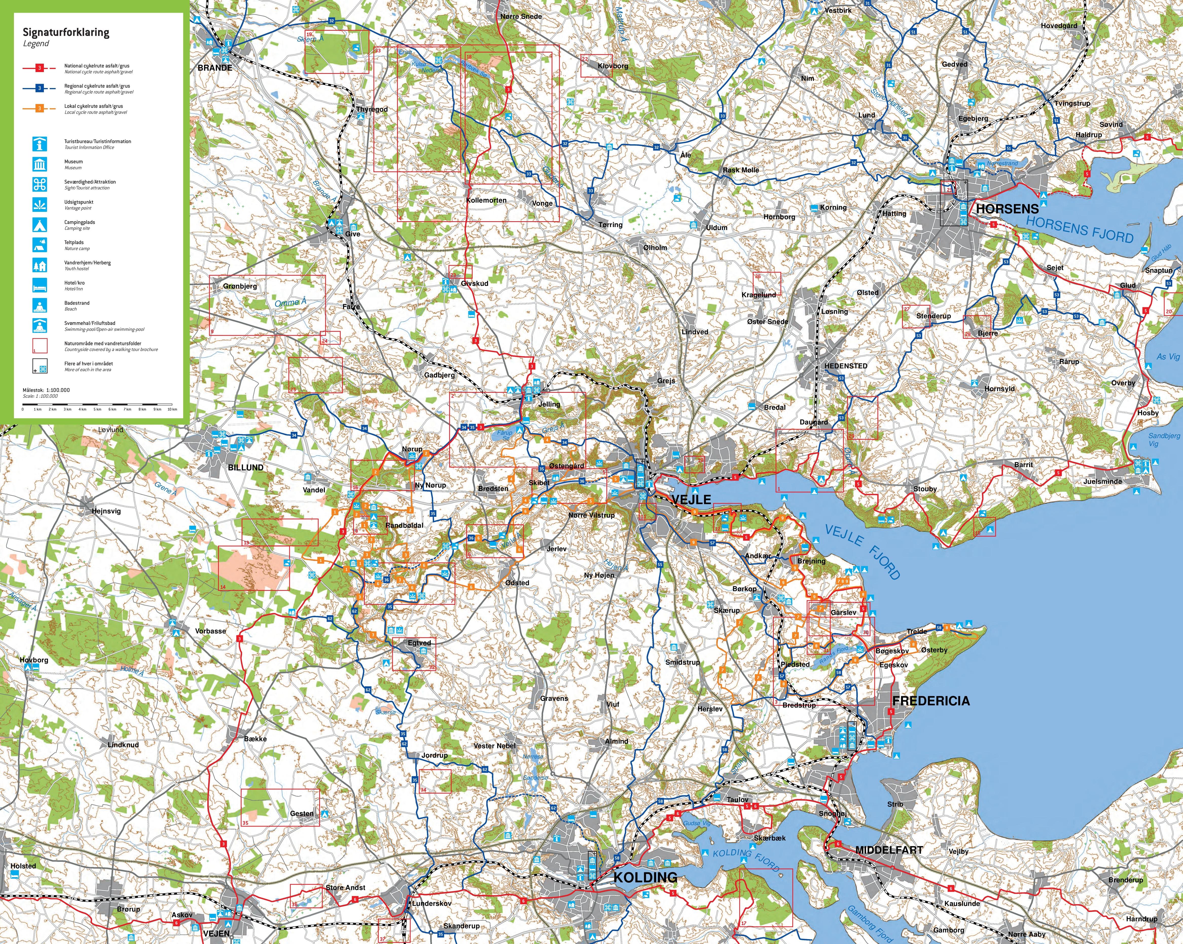 Vejle bike map