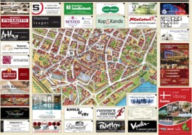 Viborg city center map