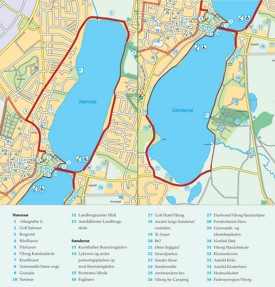 Viborg sightseeing map