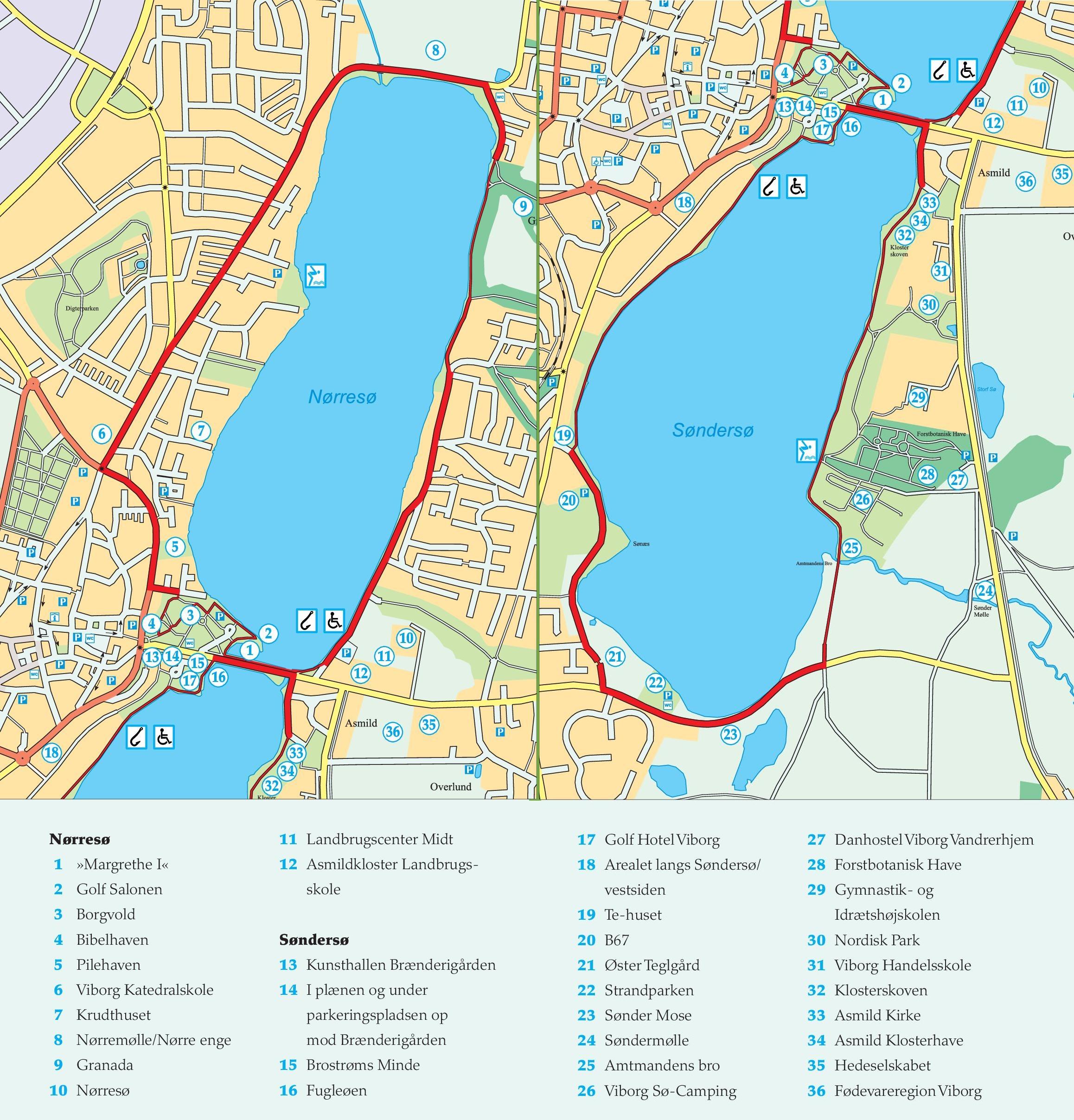 Viborg sightseeing map