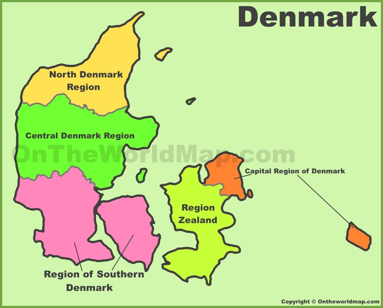 denmark regions map. denmark maps  maps of denmark