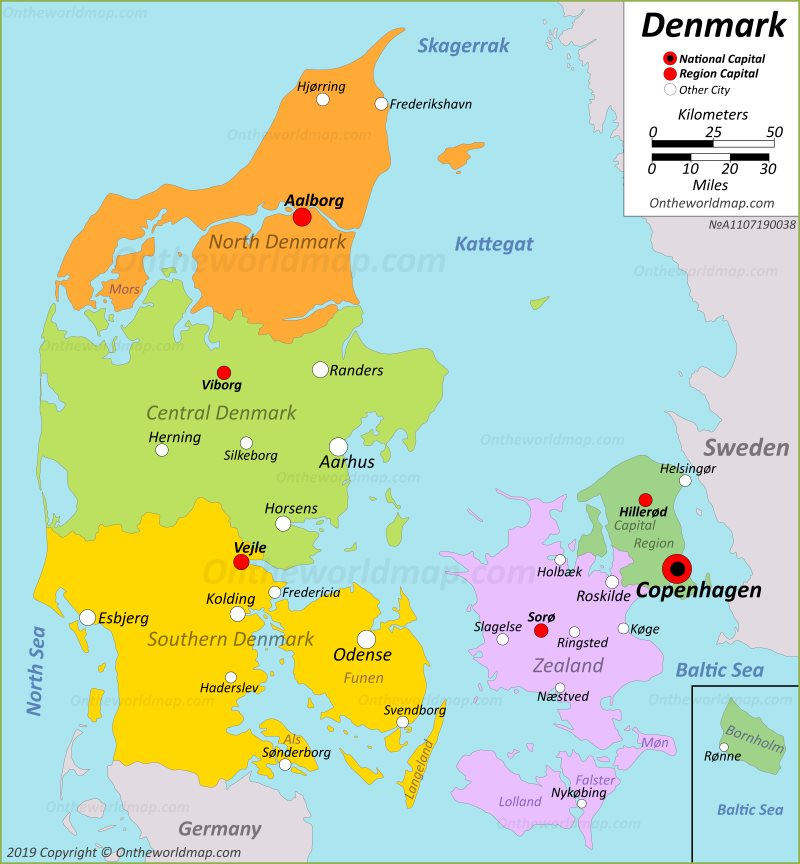 Where Is Denmark Located Denmark Map Cities And Places