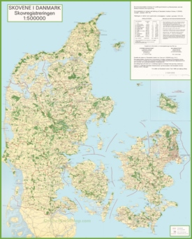 Topographical map of Denmark