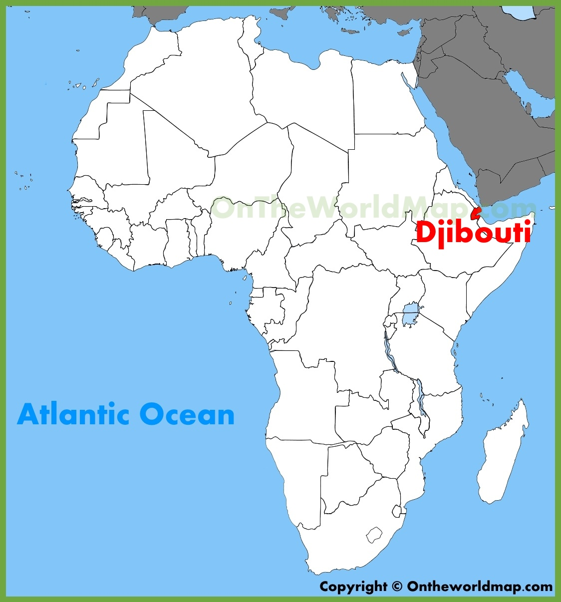 Image result for Djibouti map