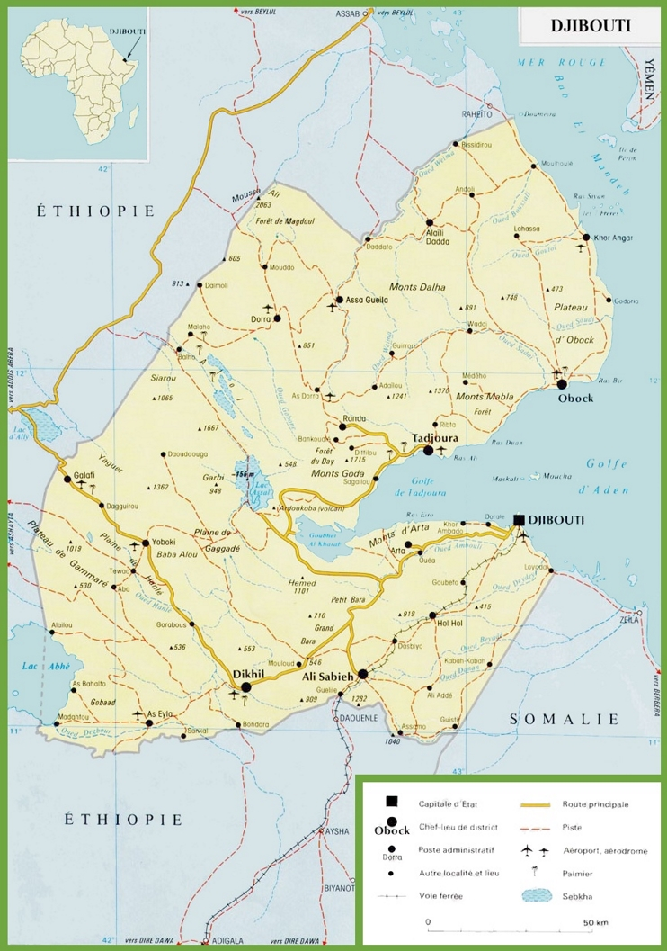 Djibouti road map