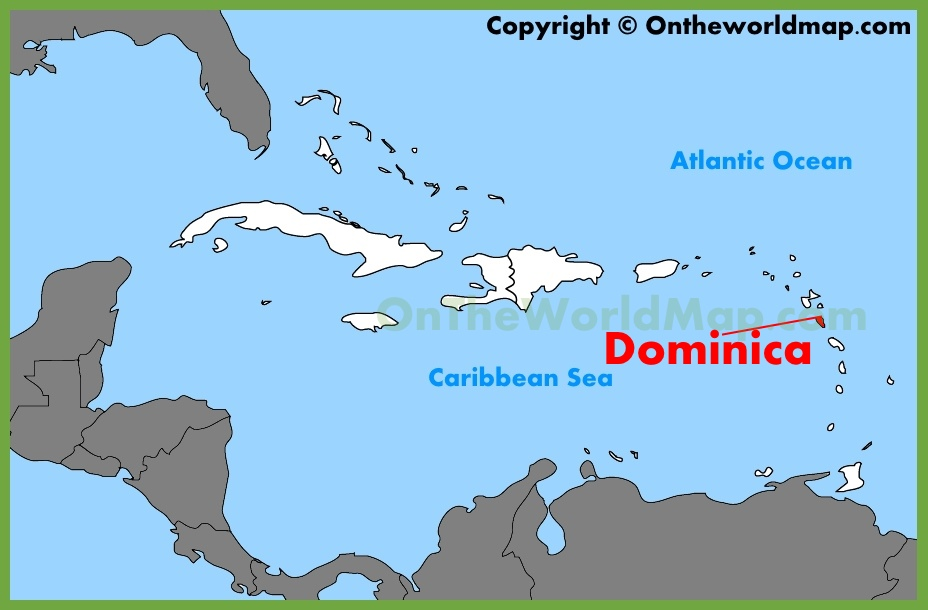 Dominica Maps Maps of Dominica