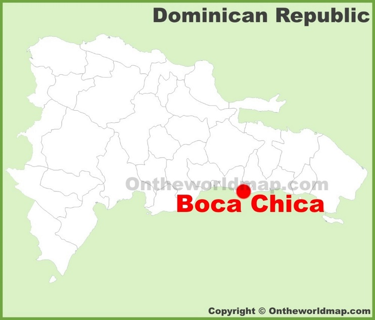 Boca Chica location on the Dominican Republic map