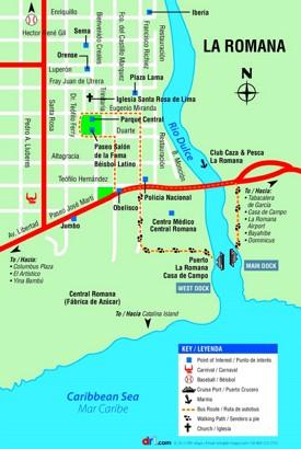 La Romana city center map