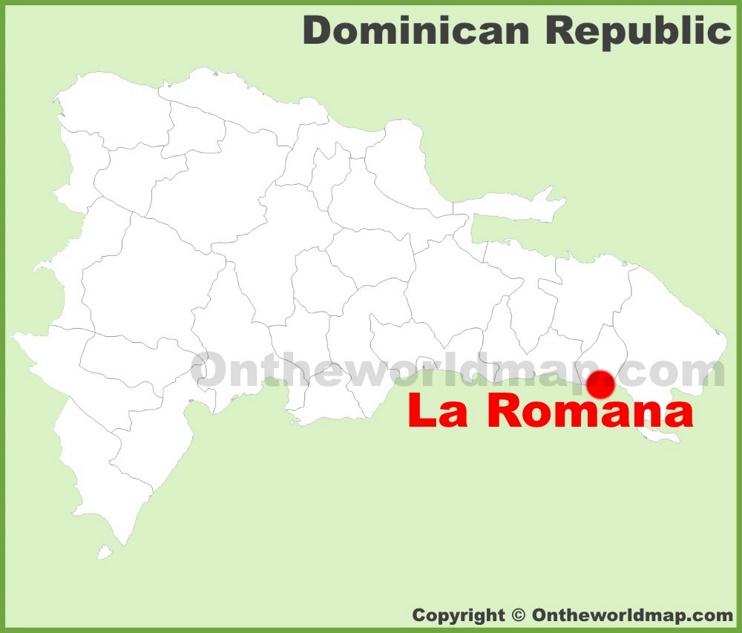La Romana location on the Dominican Republic map