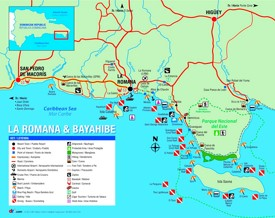 La Romana tourist map