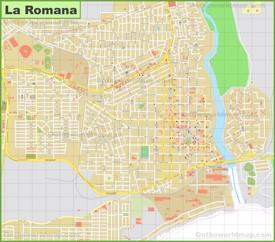 Large detailed map of La Romana
