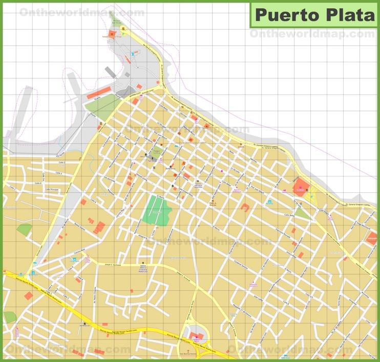 Puerto Plata city center map