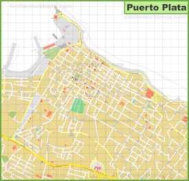 Puerto Plata city center map
