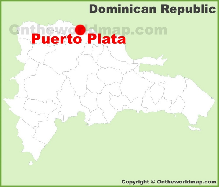 Puerto Plata location on the Dominican Republic map