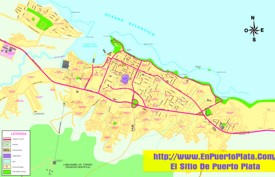 Puerto Plata sightseeing map