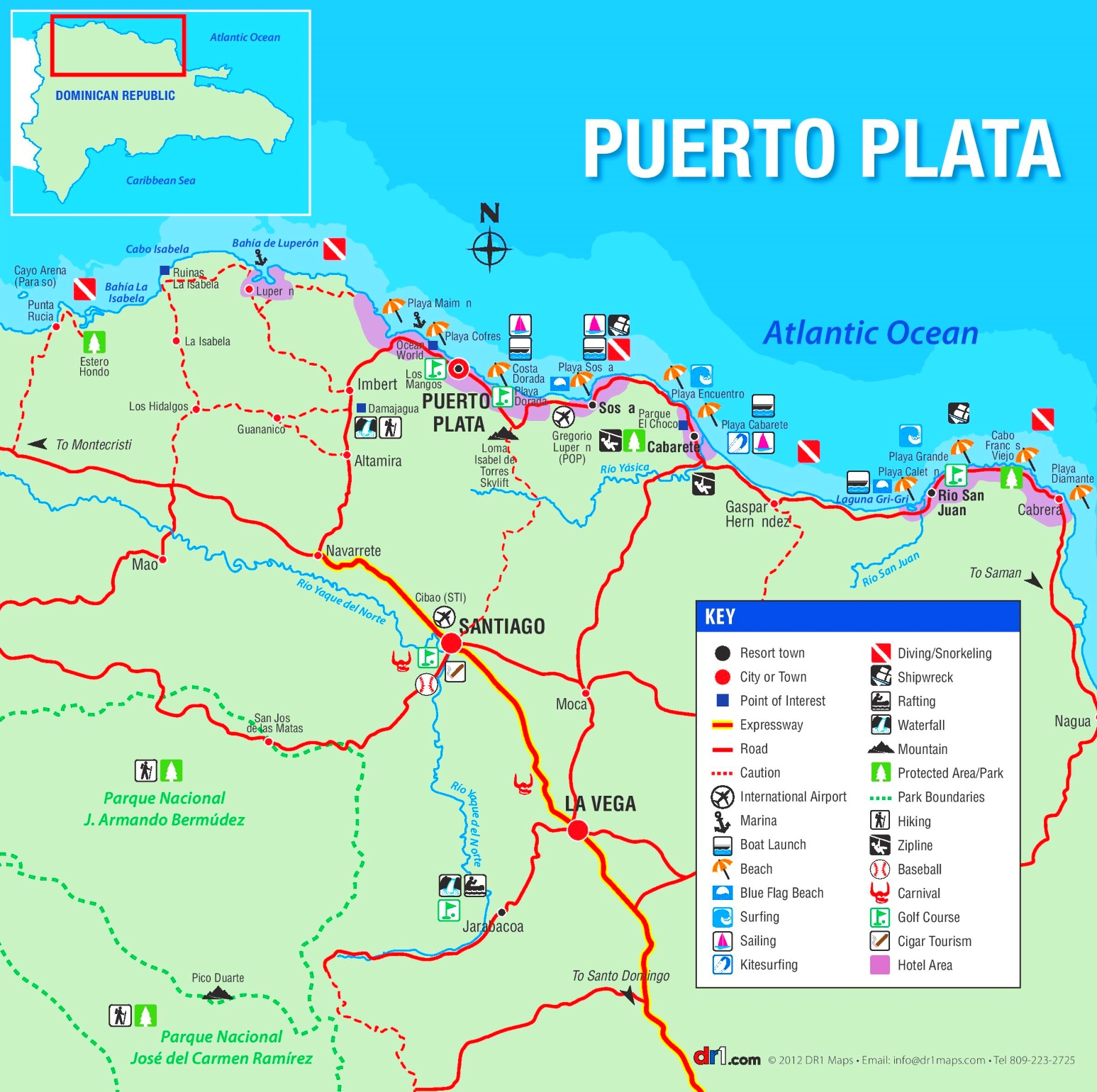 Puerto Plata Maps Dominican Republic Maps of San Felipe de