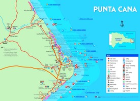 Punta Cana hotel map