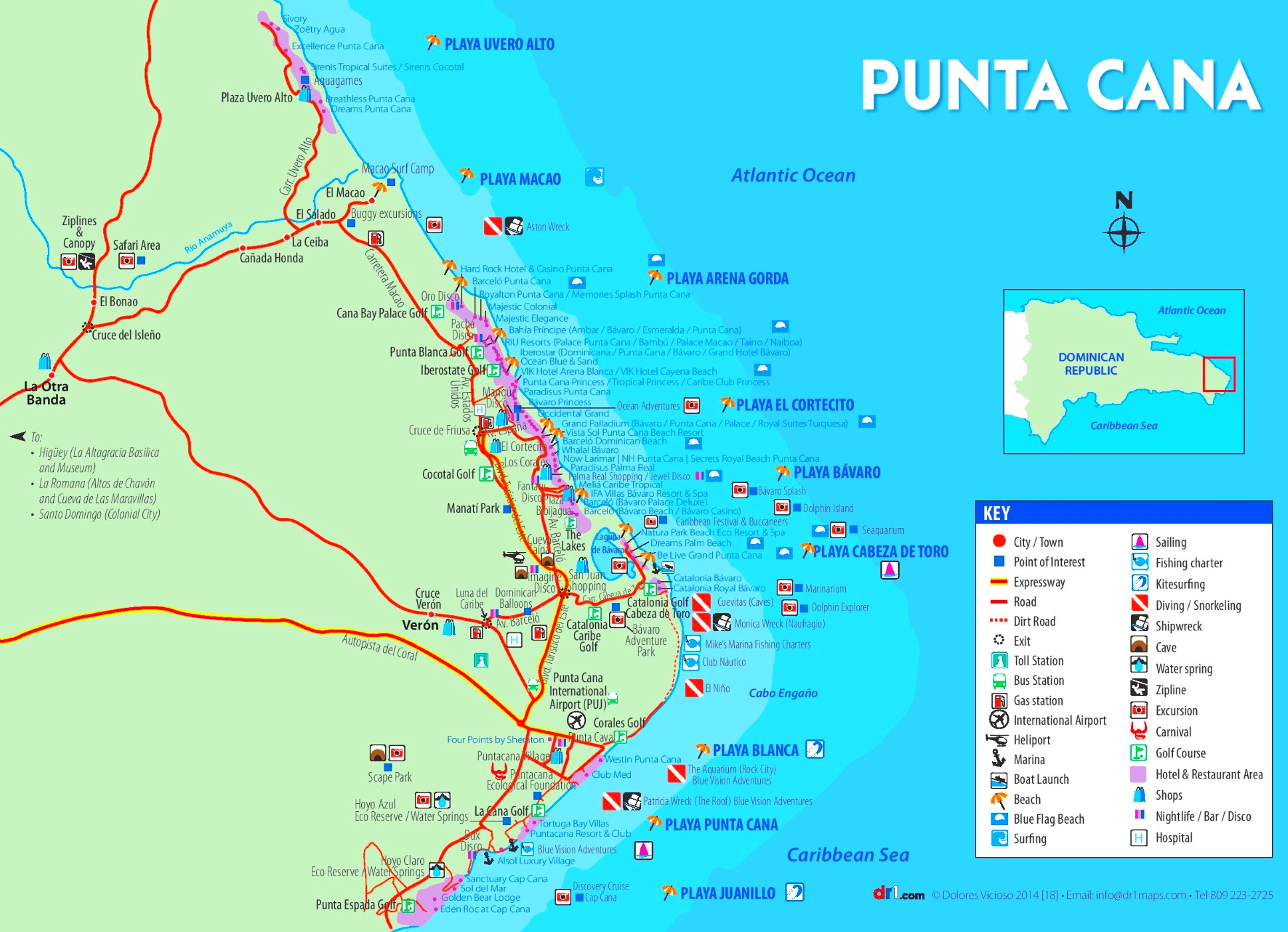 Punta cana hotel map for Vacations to punta cana