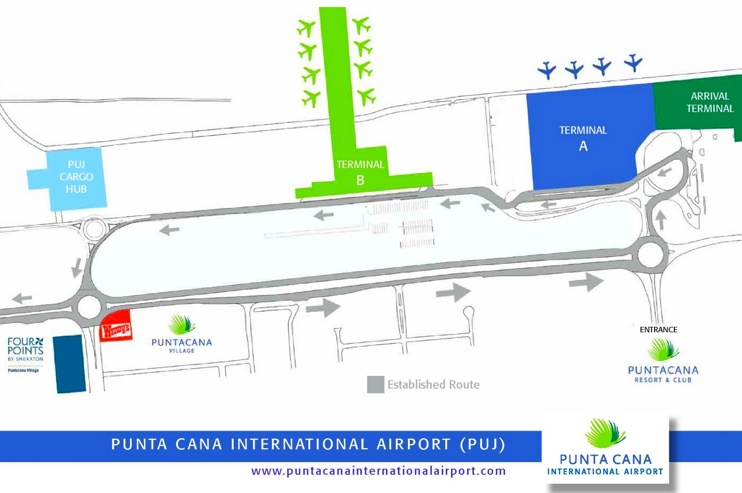 Punta Cana International Airport map