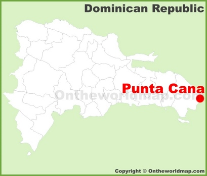 Punta Cana Location Map