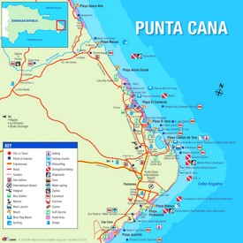Punta Cana tourist map