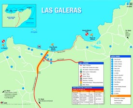Las Galeras hotel map