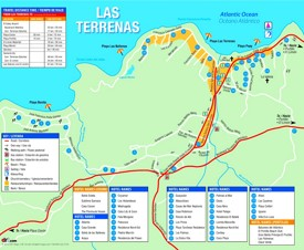 Las Terrenas hotel map