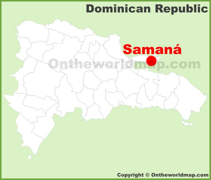Samaná location on the Dominican Republic map
