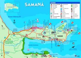 Samaná Peninsula tourist map