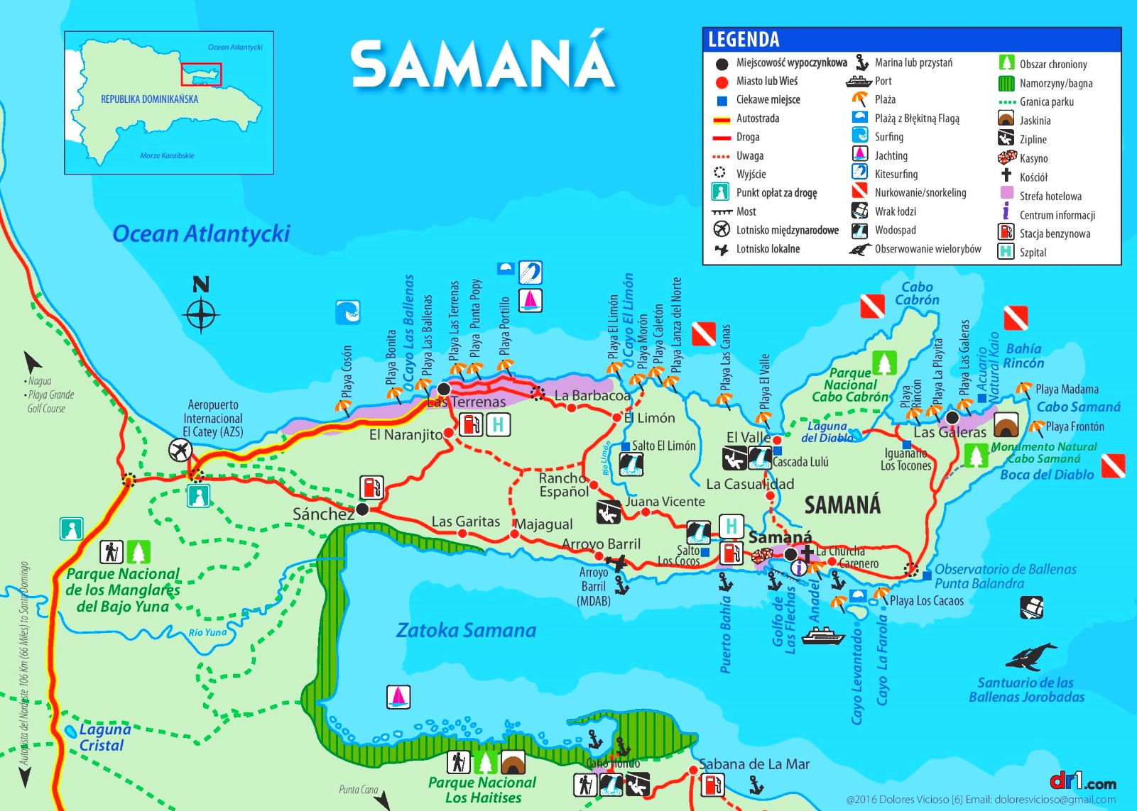 Saman Peninsula tourist map