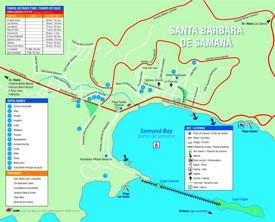 Samaná town hotel map