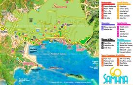Samaná town tourist map