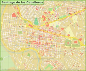 Santiago city center map