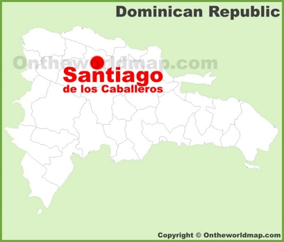 Santiago Location Map