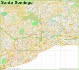 Santo Domingo Maps Dominican Republic Maps of Santo Domingo de