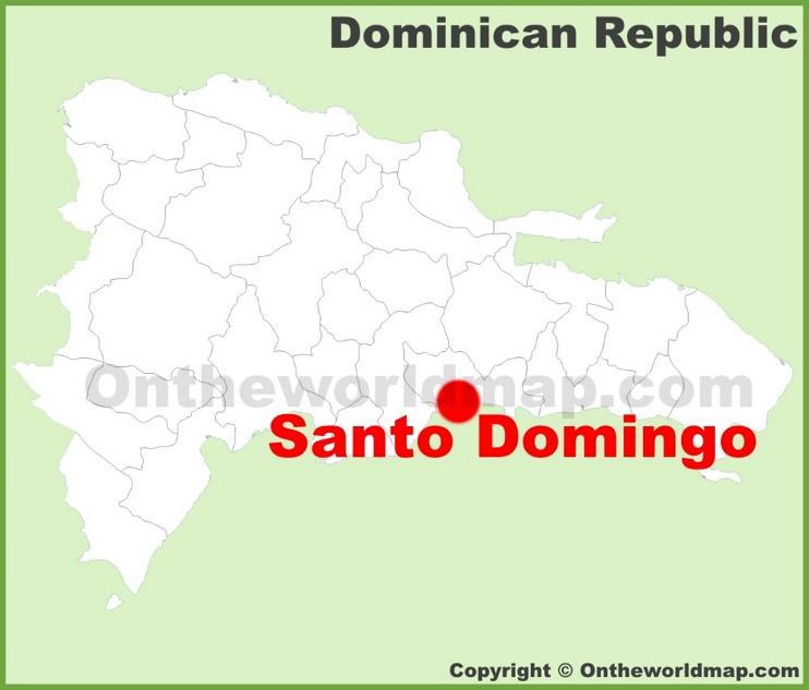 Santo Domingo location on the Dominican Republic map