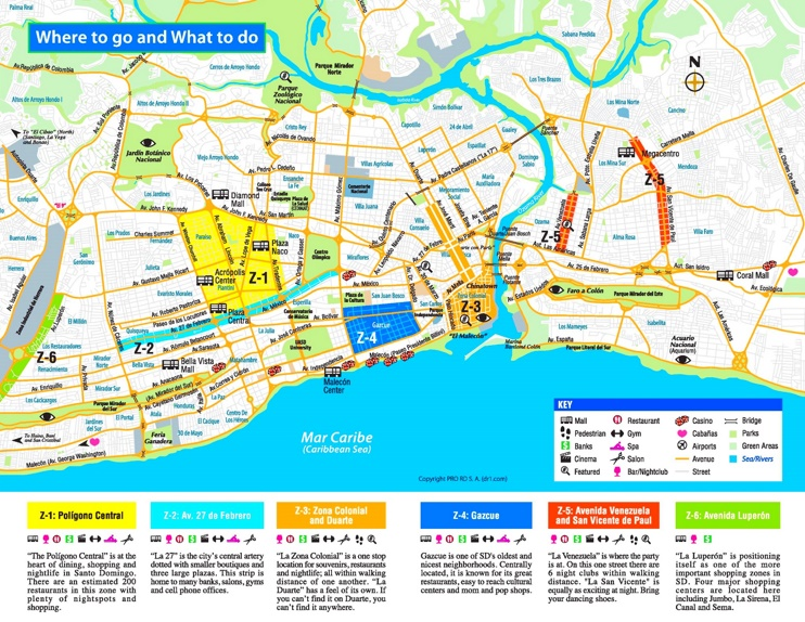 Santo Domingo shopping map