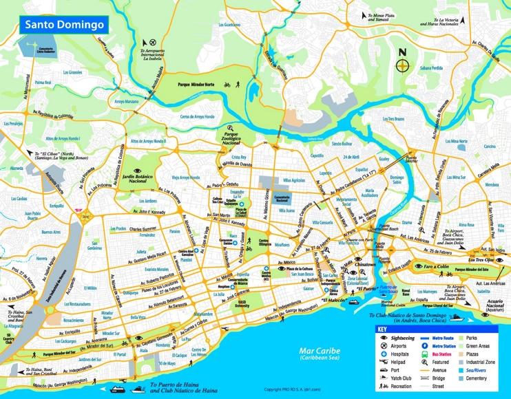 Santo Domingo tourist map