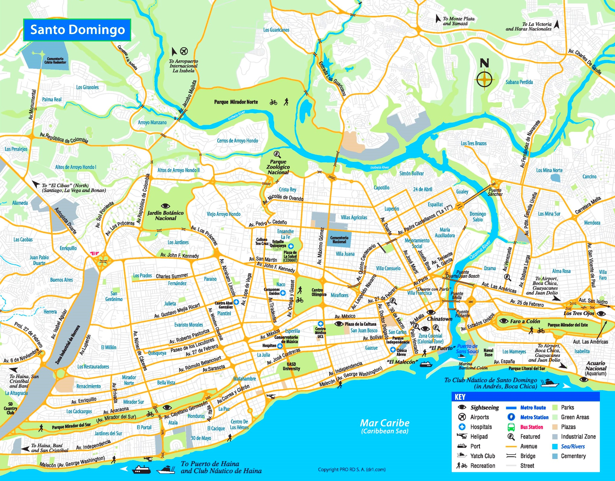 Santo Domingo tourist map