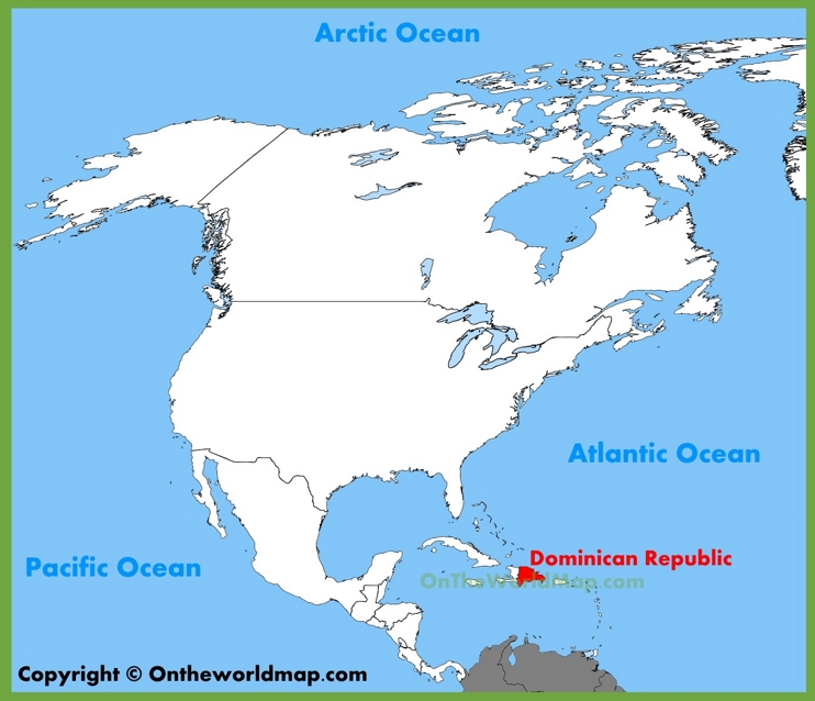 Dominican Republic location on the North America map