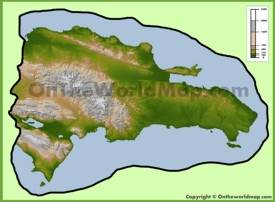 Dominican Republic physical map