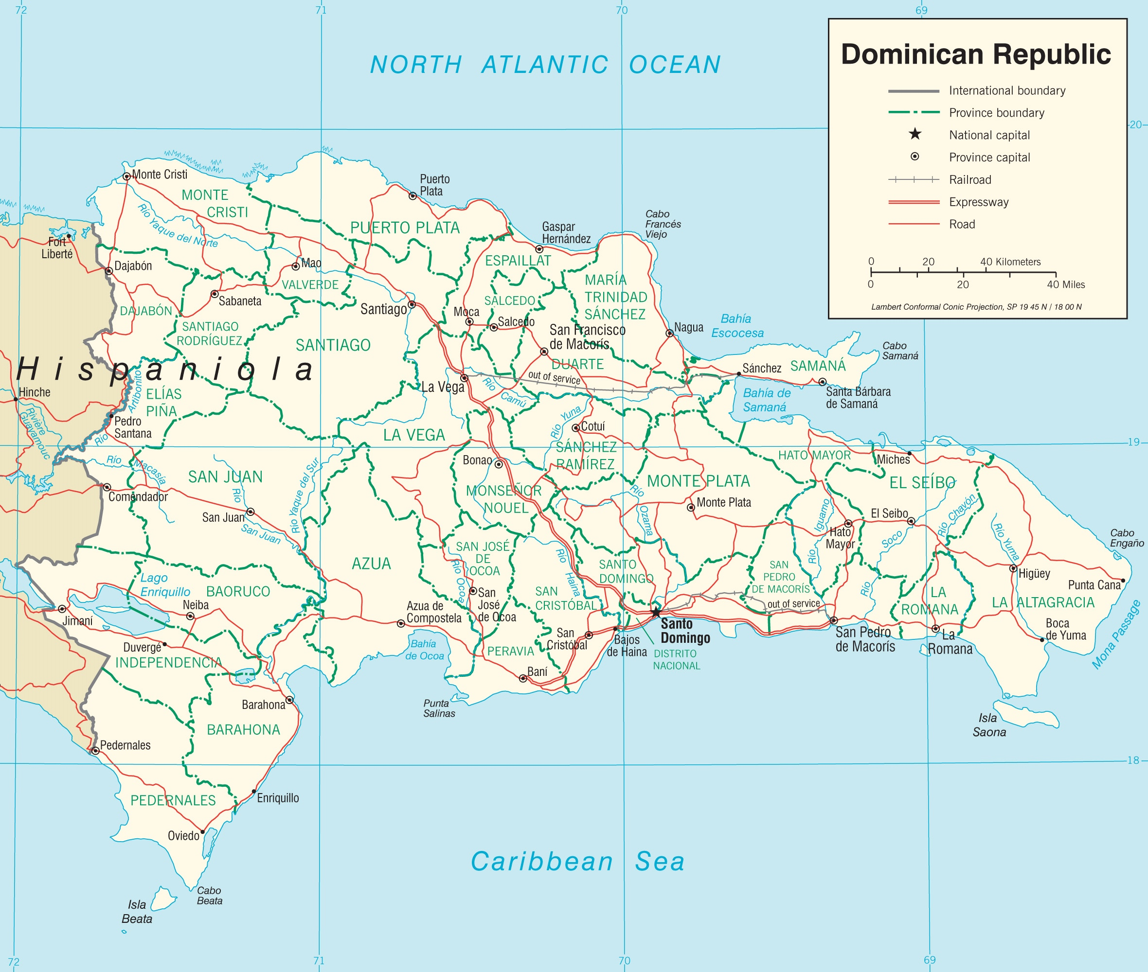 Dominican Republic road map