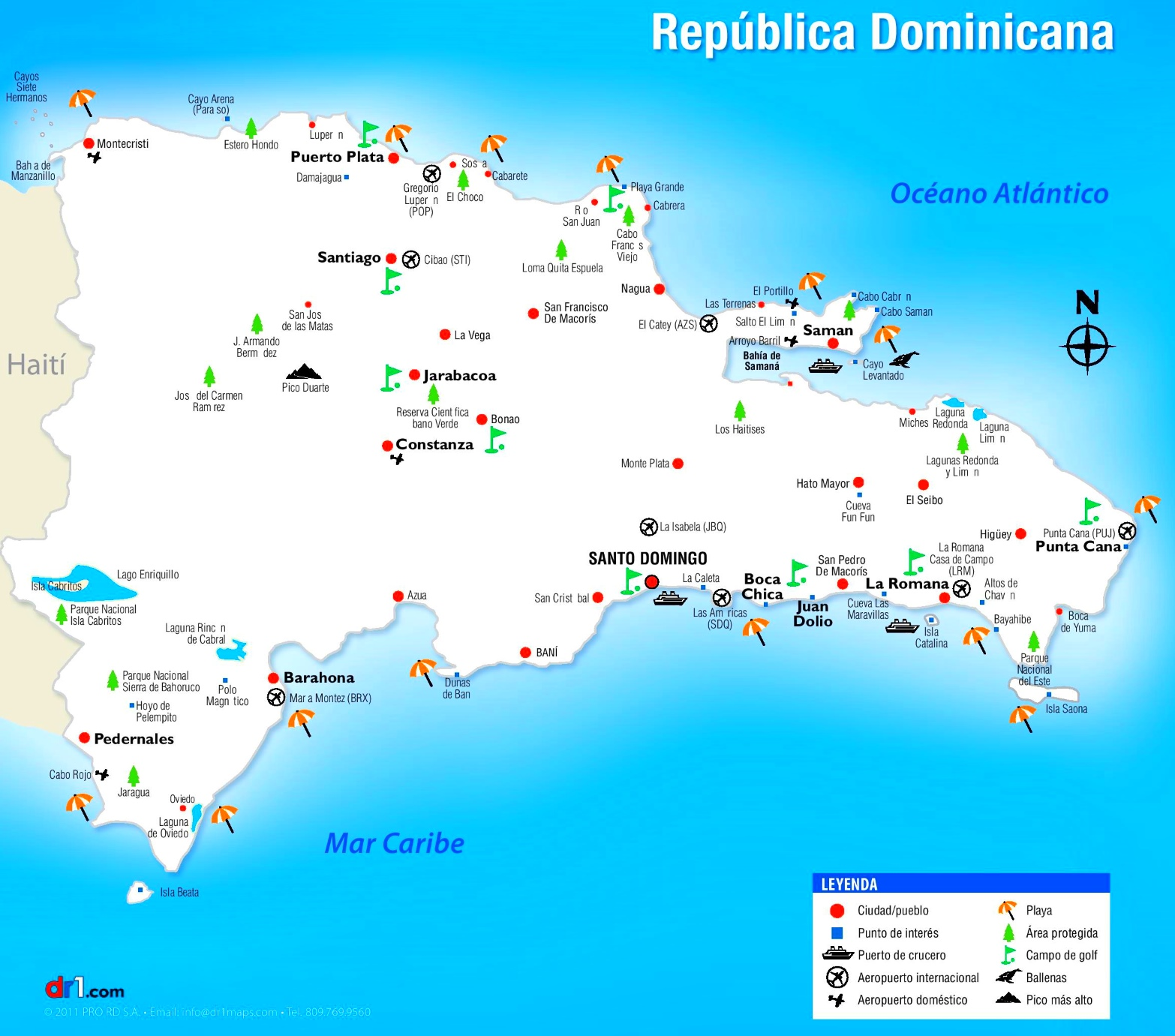 Dominican republic maps maps of dominican republic dominican republic sightseeing map publicscrutiny Choice Image