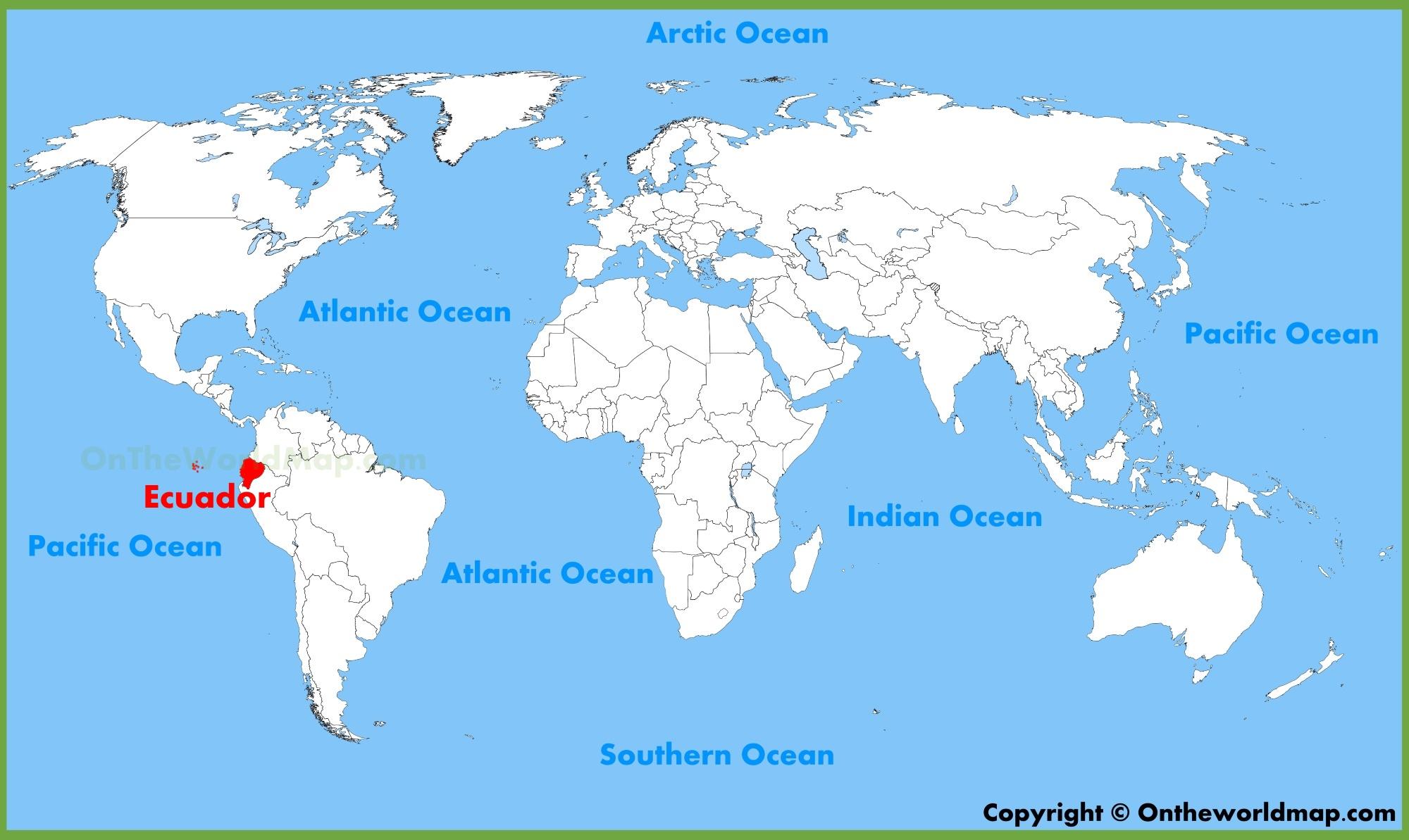 Ecuador On Map Ecuador location on the World Map Ecuador On Map