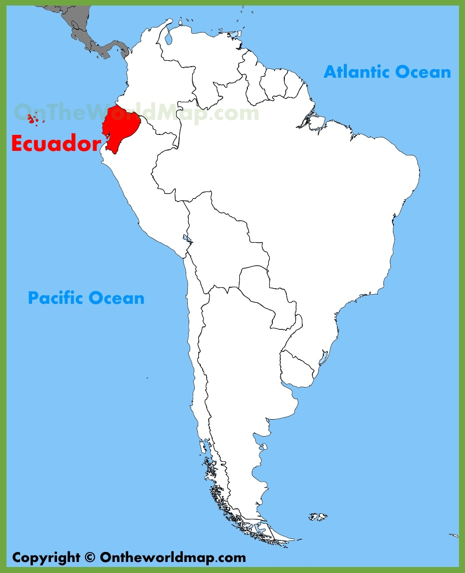 Where Is Ecuador On A World Map Ecuador location on the South America map