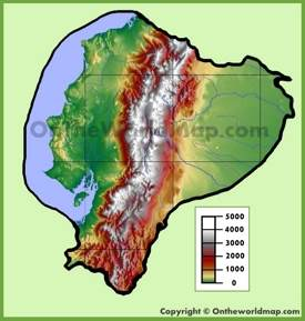 Ecuador physical map