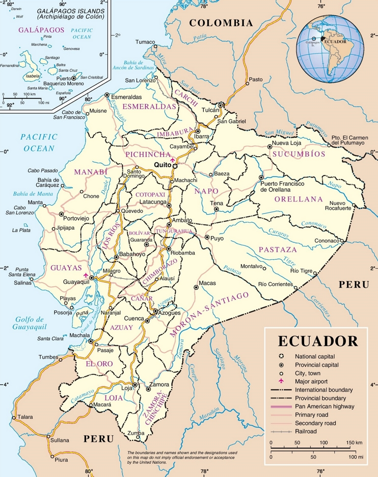 Ecuador road map