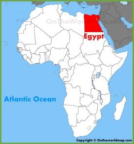 Egypt location on the Africa map